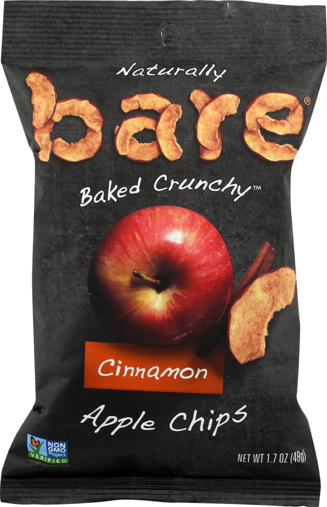 BARE: 100% Natural Crunchy Apple Chips Simply Cinnamon, 1.7 oz