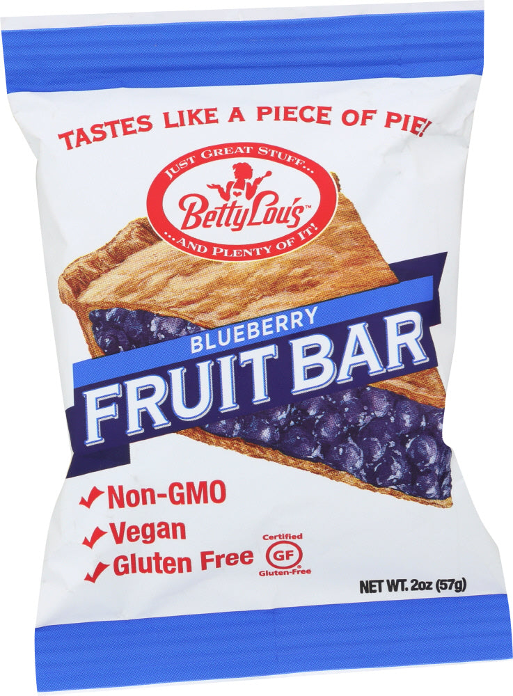 BETTY LOU'S: Fruit Bars Gluten Free Blueberry, 2 Oz
