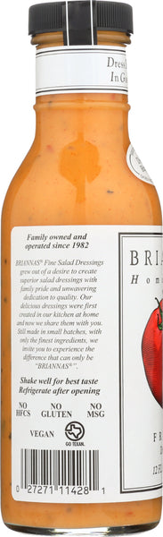 BRIANNAS: Home Style Zesty French Dressing, 12 oz