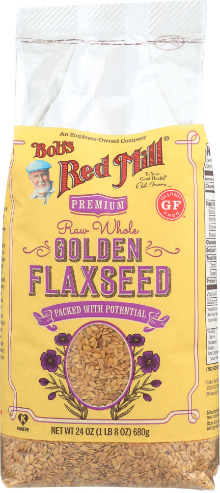 BOB'S RED MILL: Raw Whole Golden Flaxseeds, 24 oz