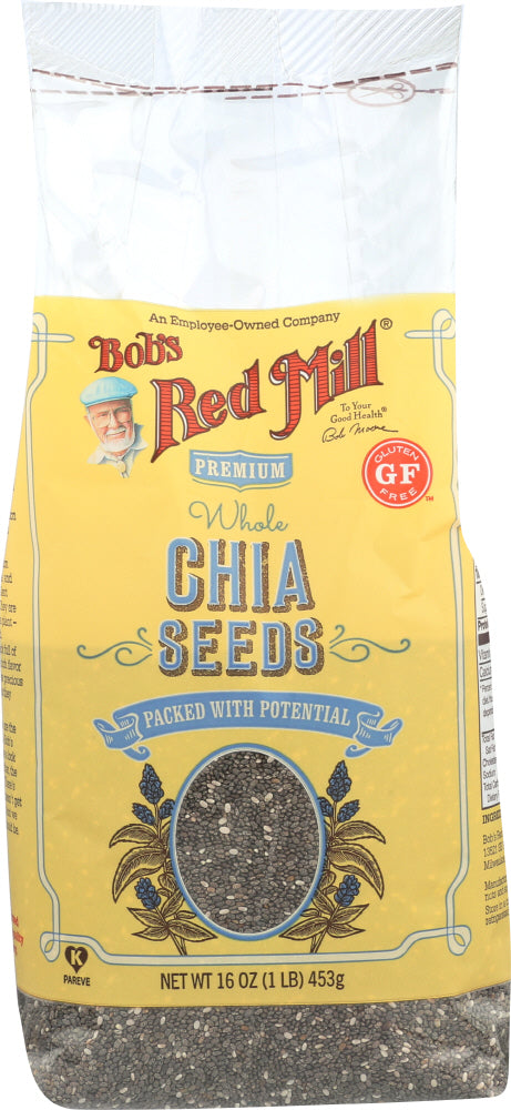 BOBS RED MILL: Whole Seed Chia, 16 Oz