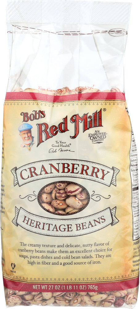 BOBS RED MILL: Cranberry Heritage Beans, 27 oz