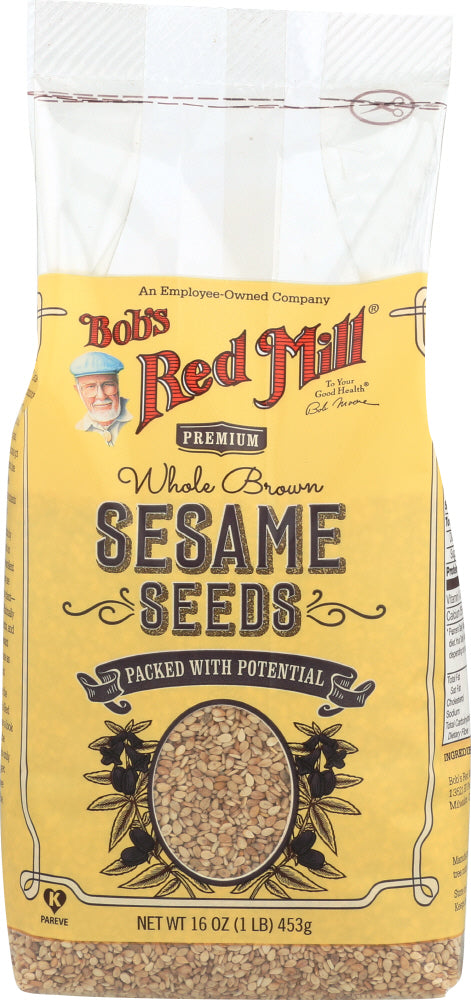 BOBS RED MILL: Brown Sesame Seeds, 16 Oz