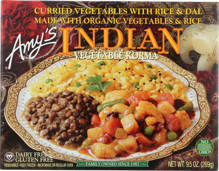 AMY'S: Indian Vegetable Korma, 9.5 oz