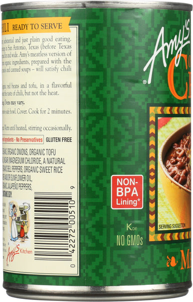 AMY'S: Organic Chili Medium, 14.7 oz