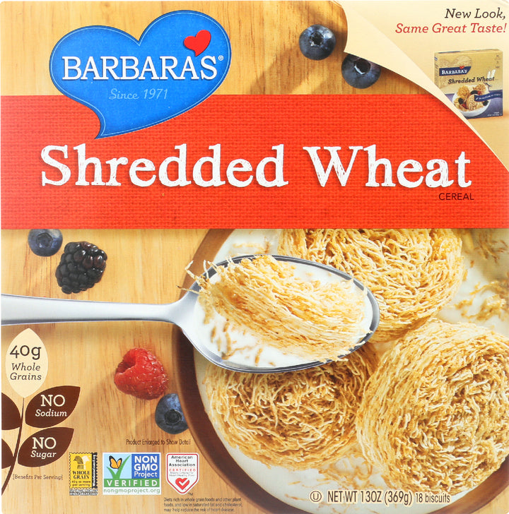 BARBARA'S: Shredded Wheat Cereal, 13 oz
