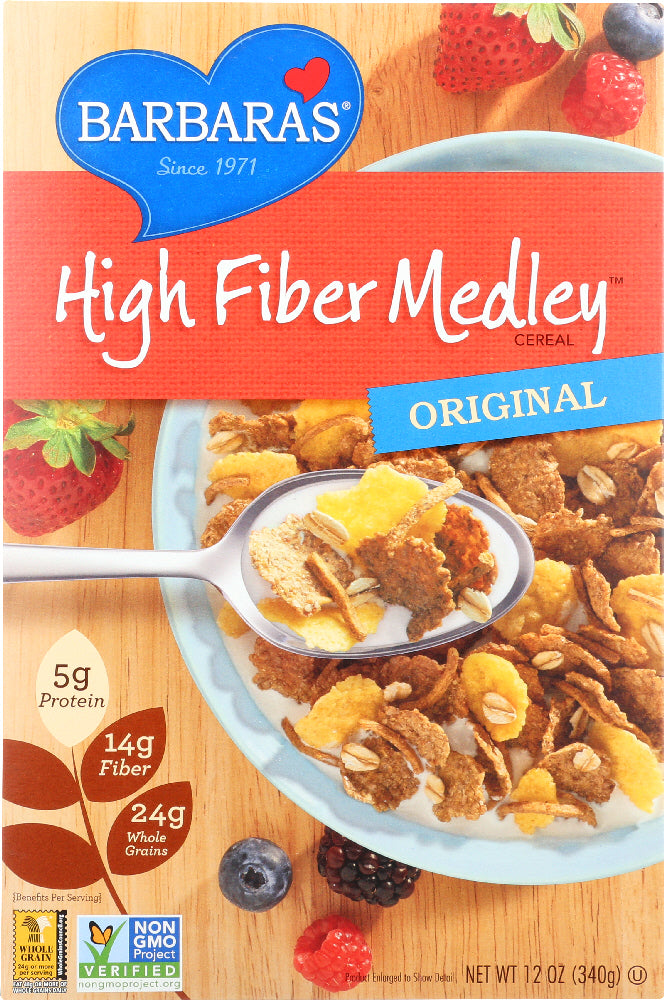 BARBARA'S BAKERY: High Fiber Medley Cereal Original, 12 oz