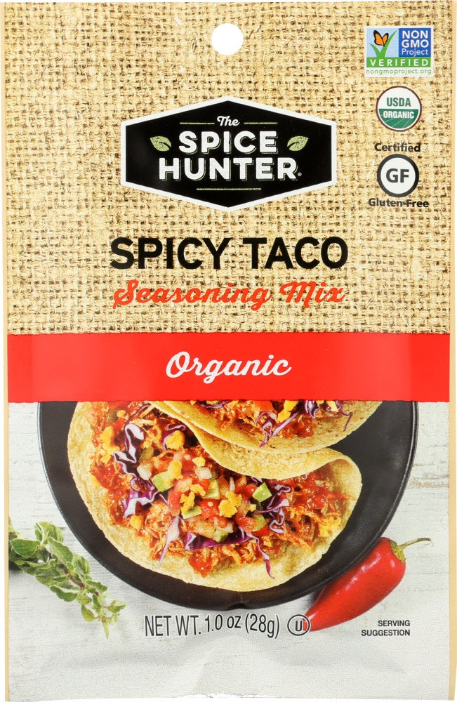 THE SPICE HUNTER: Spicy Taco Organic Seasoning Mix, 1 oz