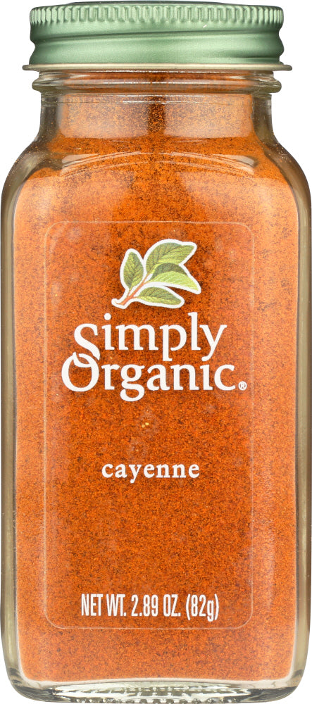 SIMPLY ORGANIC: Cayenne Pepper, 2.89 oz