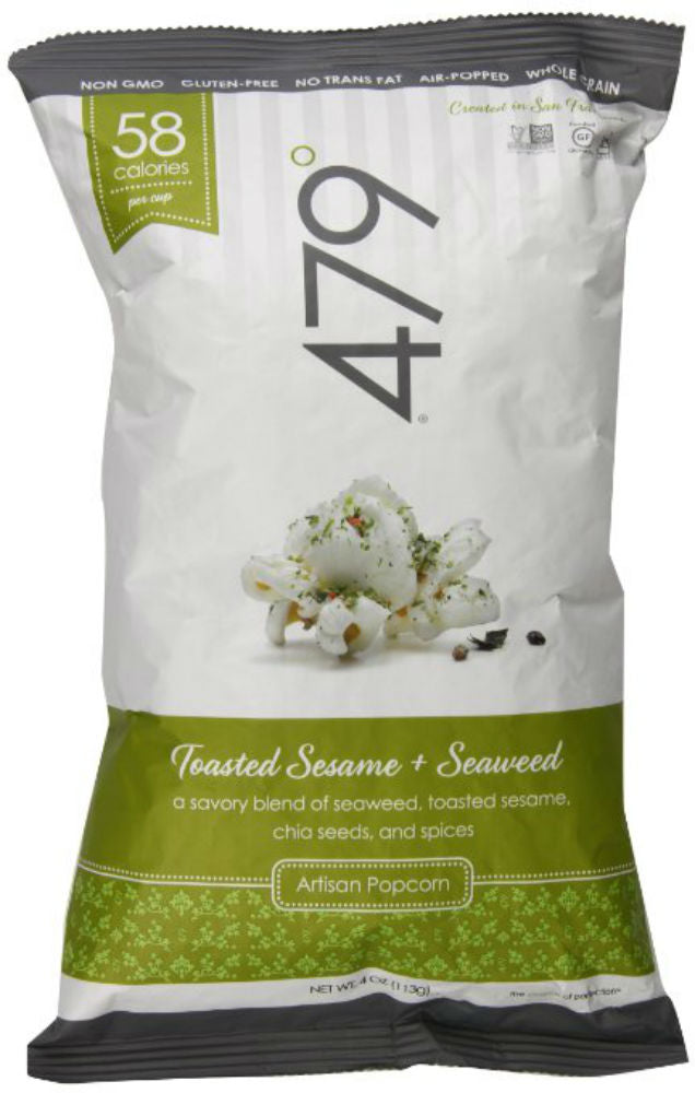 479 DEGREES: Artisan Popcorn Toasted Sesame + Seaweed, 4 Oz