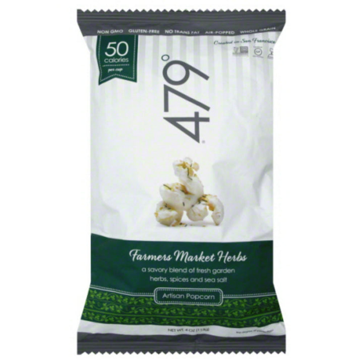 479 DEGREES: Farmers Market Herbs Artisan Popcorn, 4 Oz