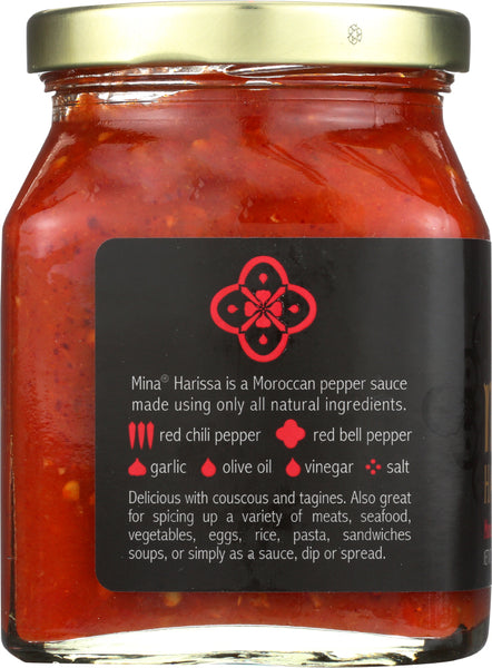 MINA: Hariss Spicy Traditional Moroccan Red Pepper Sauce, 10 oz