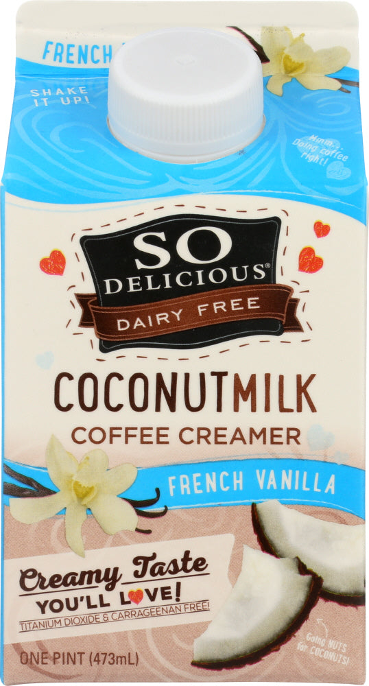 SO DELICIOUS: Coconut Milk French Vanilla Creamer, 16 oz