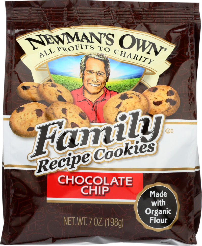 NEWMAN'S OWN ORGANIC: Family Recipe Cookies Chocolate Chip, 7 oz