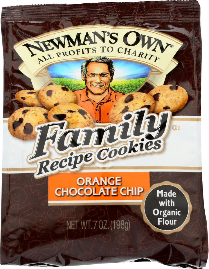 NEWMAN'S OWN ORGANIC: Family Recipe Cookies Orange Chocolate Chip, 7 oz
