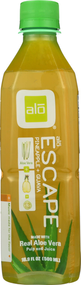 ALO: Escape Pineapple + Guava + Seabuckthorn Berry Aloe Vera Drink, 16.9 oz