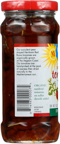 MEDITERRANEAN ORGANIC: Sundried Tomatoes in Olive Oil, 8.3 oz