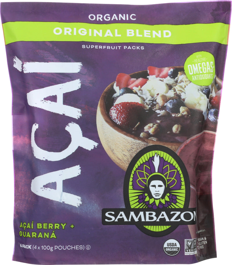 SAMBAZON: Smoothie Packs The Original Acai Berry + Guarana, 14 Oz