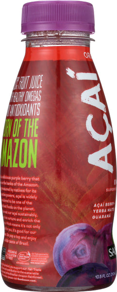 SAMBAZON: Organic Acai Berry Yerba Mate And Guarana Juice Superfood, 10.5 oz