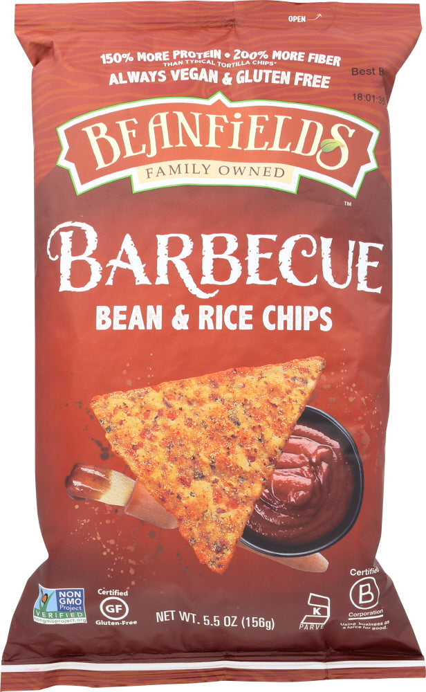 BEANFIELDS: Bean & Rice Chips Barbecue, 5.5 oz