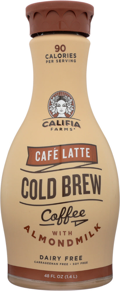 CALIFIA FARMS: Iced Coffee Cafe Latte, 48 oz