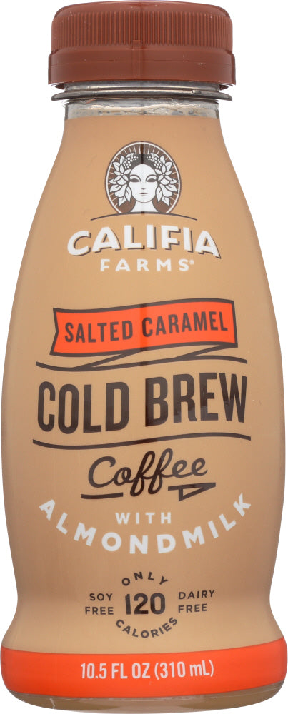 CALIFIA FARMS: Salted Caramel Cold Brew Coffee With Almond Milk, 10.5 oz