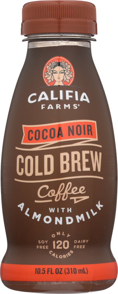 CALIFIA FARMS: Cocoa Noir Iced Coffee with Almond Milk, 10.5 oz