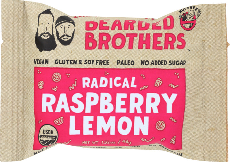 BEARDED BROTHERS: Energy Bar Radical Raspberry Lemon, 2 oz