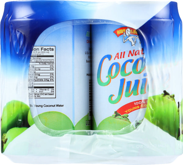 AMY AND BRIAN: Pulp Free Coconut Juice 6 Count, 60 Oz