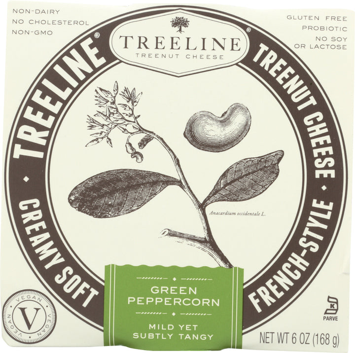 TREELINE: Green Peppercorn French-Style Soft Cheese, 6 oz