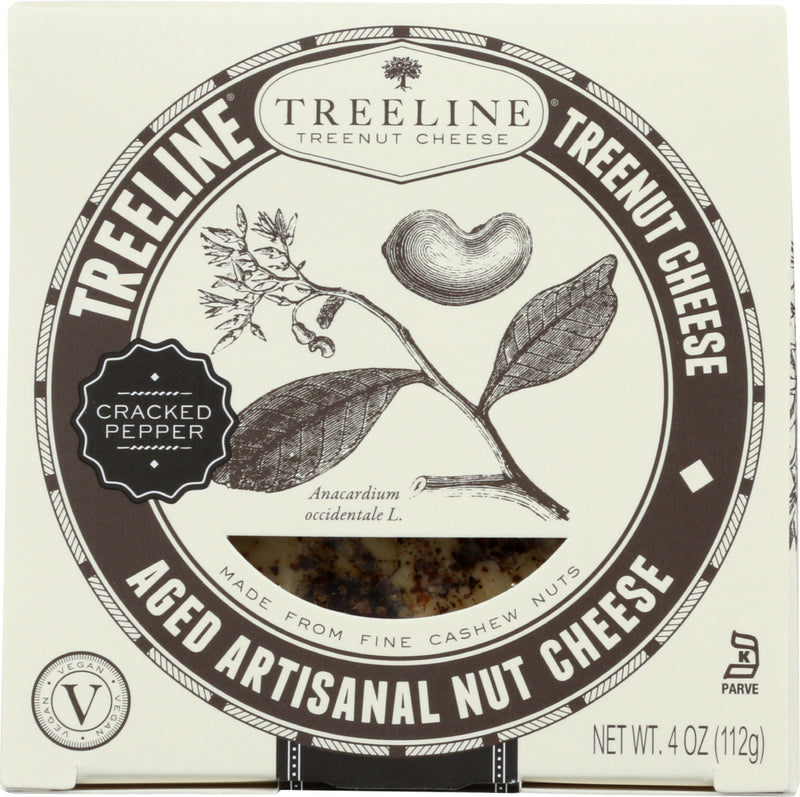 TREELINE: Cracked Pepper Aged Nut Cheese, 4 oz