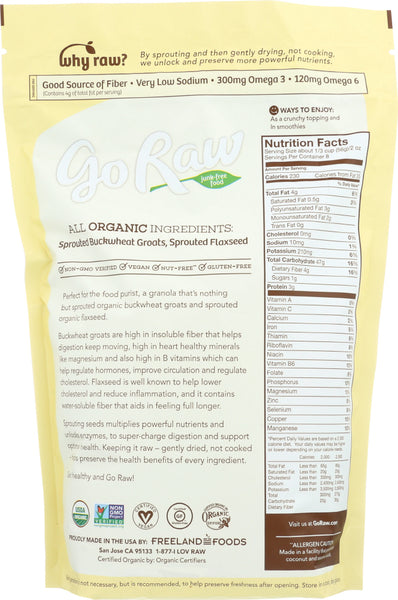 GO RAW: 100% Organic Simple Granola Cereal Bags, 16 oz