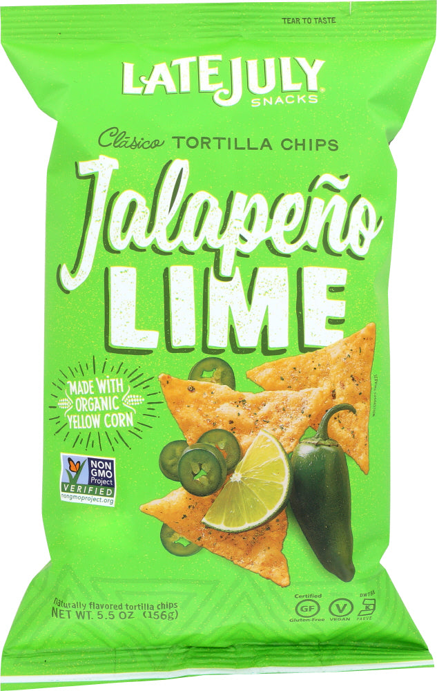 LATE JULY SNACKS: Clasico Tortilla Chips Jalapeno Lime, 5.5 Oz