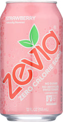 ZEVIA: Zero Calorie Soda Strawberry 6 count (12 oz each), 72 oz