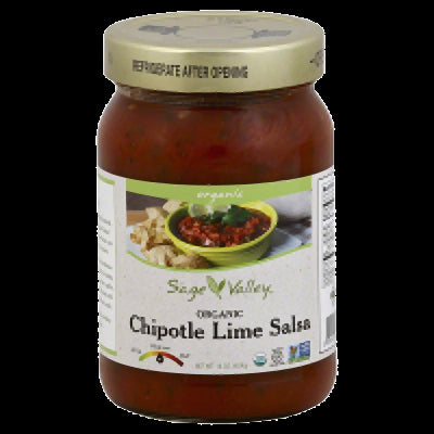 SAGE VALLEY: Organic Chipotle Lime Salsa, 16 oz