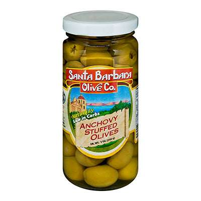 SANTA BARBARA: Olive Co. Anchovy Stuffed Olives, 5 oz