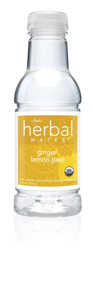 AYALA'S: Herbal Water Organic Ginger Lemon Peel, 16 oz