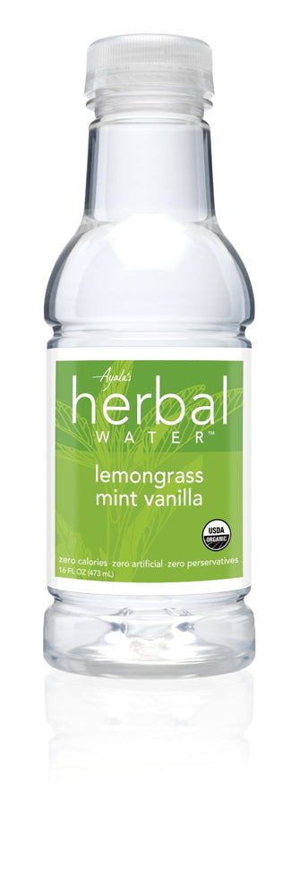 AYALA'S: Herbal Water Organic Lemongrass Mint Vanilla, 16 oz