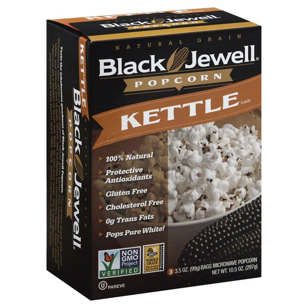 BLACK JEWELL: Kettle Corn Premium Microwave Popcorn 3 bags, 10.5 oz