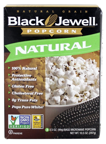 BLACK JEWELL: Microwave Popcorn Natural 3 Bags, 10.5 oz