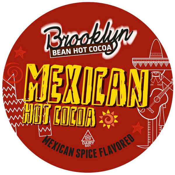 BROOKLYN BEAN ROASTERY: Mexican Spice Flavored Hot Cocoa Single Serve Cup, 12 Ct