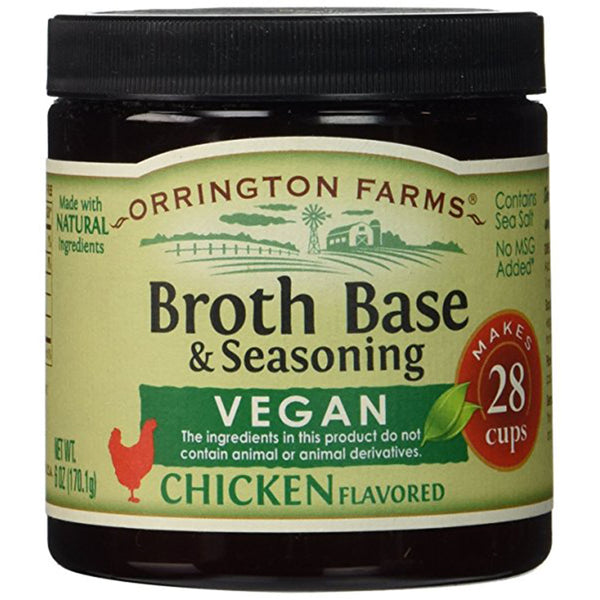 ORRINGTON FARMS: Chicken Vegan Flavored Broth Base, 6 Oz