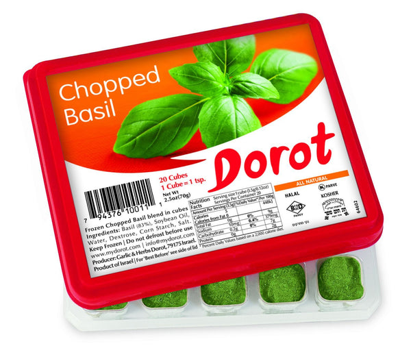 DOROT: Frozen Chopped Basil Cubes, 2.5 Oz