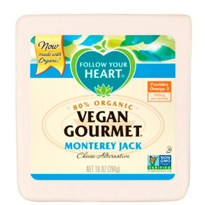 FOLLOW YOUR HEART: Vegan Gourmet Cheese Alternative Monterey Jack, 10 oz