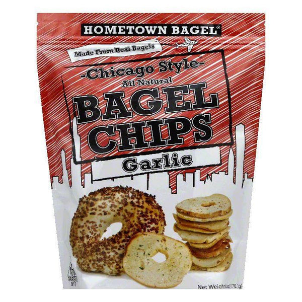 HOMETOWN BAGEL: Chicago Style Bagel Chips Garlic, 6 oz