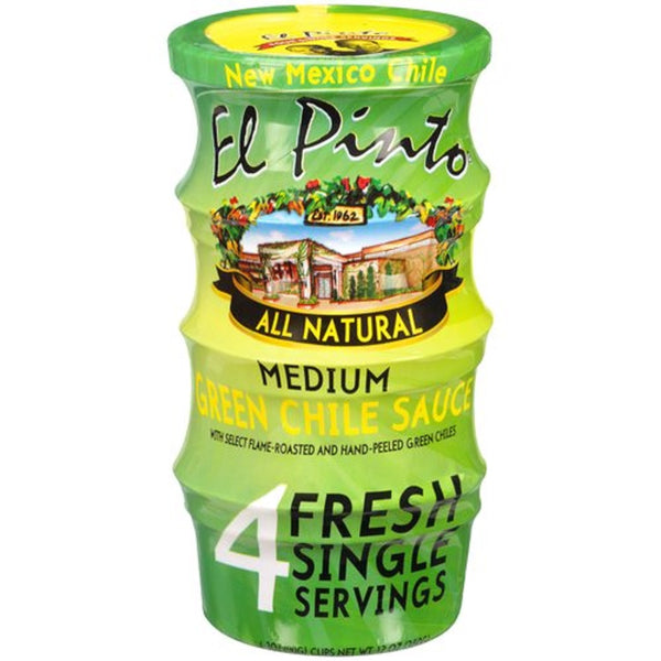 EL PINTO: All Natural Medium Green Chile Sauce, 12 oz