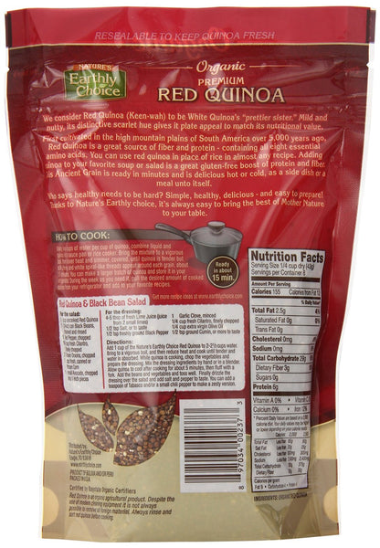 NATURE'S EARTHLY CHOICE: Organic Red Quinoa, 12 oz