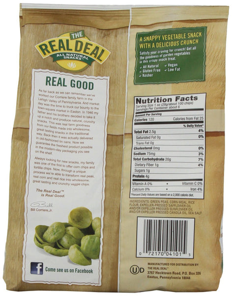 REAL DEAL: All Natural Real Veggie Chips Original, 6 oz