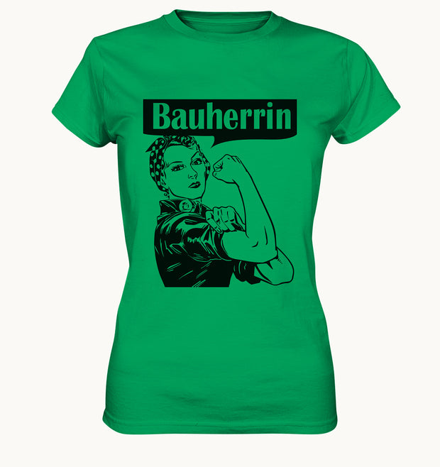 Bauherrin - Retro - Ladies Premium Shirt