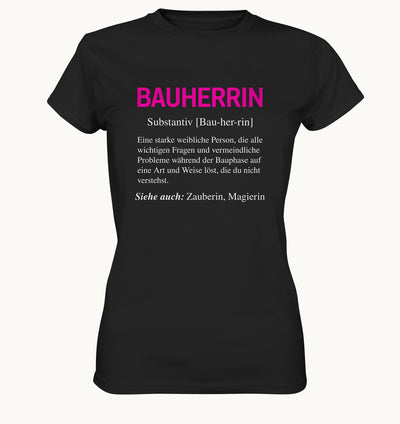 Bauherrin - Ladies Premium Shirt